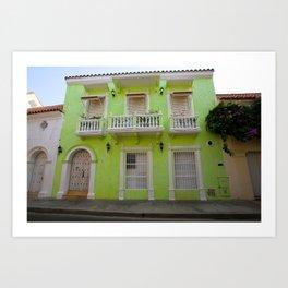 Cartegena Walled City Green Home Art Print