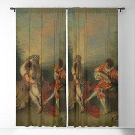 """Antoine Watteau """"La Surprise"""" Blackout Curtain"""