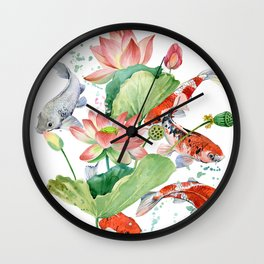 koi carp fish Wall Clock