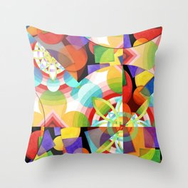 Prismatic Abstract Throw Pillow
