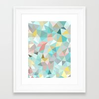 pastel Framed Art Prints featuring Pastel Tris by Beth Thompson