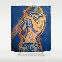 iggy azalea Shower Curtains featuring IGGY POP  by Punkboy Marti