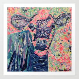 Moo-ve over winter- Cow Art Print