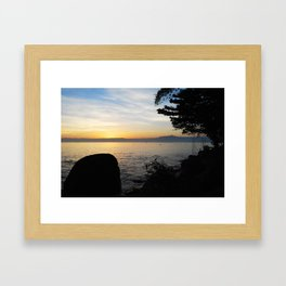 Jungle Sunset Framed Art Print