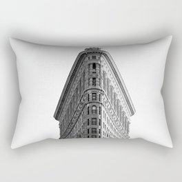Flatiron Black and White NYC Rectangular Pillow