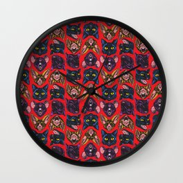 Bats! Cats! Rats! Wall Clock