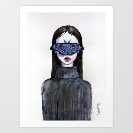 Butterfly Eyes Art Print
