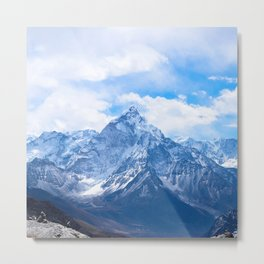 Mountains on My Mind Metal Print