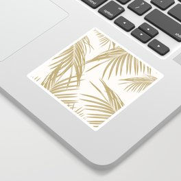 Gold Palm Leaves Dream #1 #tropical #decor #art #society6 Sticker