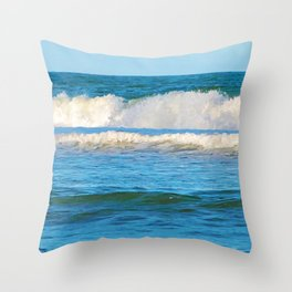 Abstract vibrant splashing waves off the coast of Queensland Throw Pillow