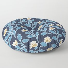 Vintage Style Floral | Navy and Blue Floor Pillow