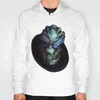 mass effect Hoodies featuring Mass Effect: Garrus Vakarian by Ruthie Hammerschlag