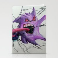 gengar Stationery Cards featuring Gengar by EzraTheMad