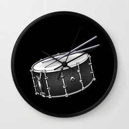 Snare Drum And Sticks Wall Clock