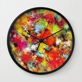 Big colour storm Wall Clock