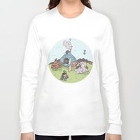 library Long Sleeve T-shirts featuring Turtle Library by mumblethief