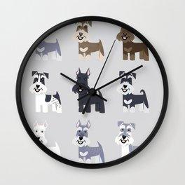 schnauzer fondo colores Wall Clock
