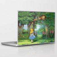 cheshire cat Laptop & iPad Skins featuring Cheshire Cat by rapplatt