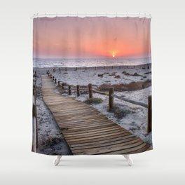 """To the beach...""Cabo de Gata"". Shower Curtain"