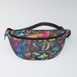 German Shepherd Dog GSD -Watercolor Silhouettes Fanny Pack
