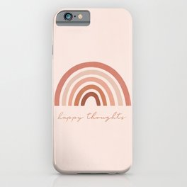 Happy thoughts rainbow iPhone Case