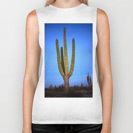 Blue cactus Biker Tank