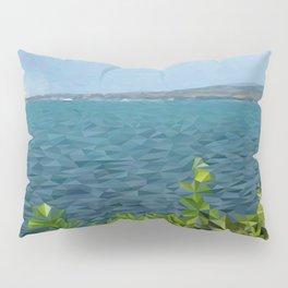 Sea landscape in polygon technique Pillow Sham