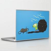 katamari Laptop & iPad Skins featuring Dung Roller Katamari by Hoborobo