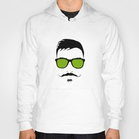 mustache Hoodies featuring Mustache by FalcaoLucas
