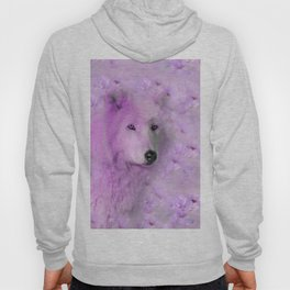 PURPLE WOLF FLOWER SPARKLE Hoody
