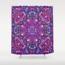 Purple Fractal Pattern Shower Curtain