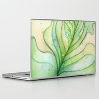 peacock feather Laptop & iPad Skins featuring Peacock Feather by Olechka