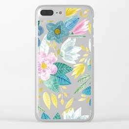 Soft Flowals Clear iPhone Case