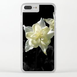 White Columbine Clear iPhone Case