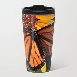 Monarch on a Desert Sunflower Travel Mug