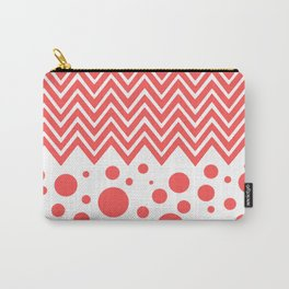 Stripes & Dots (red & white) Carry-All Pouch