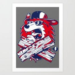 Old School Bear Art Print