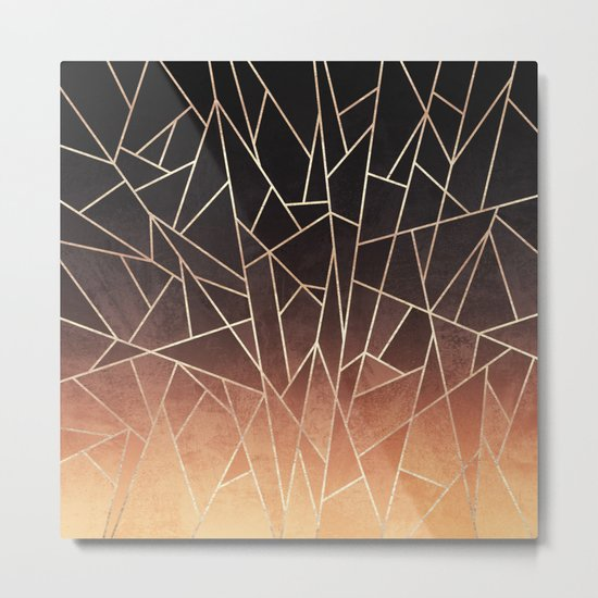 Shattered Ombre Metal Print