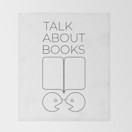 Talk About Books (Outline) Throw Blanket