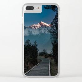 Mystic path Clear iPhone Case