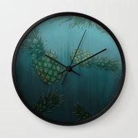 bikini Wall Clocks featuring Bikini Bottom  by Sammy Cee