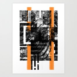 Abstract candy comp.01 Art Print