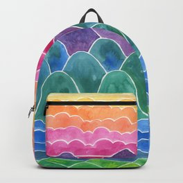 The Happy Place Watercolor Landscape Painting Backpack