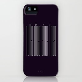 nulla dies sine linea / not a day without a line iPhone Case