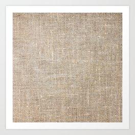 Len Sack Fabric Texture Art Print