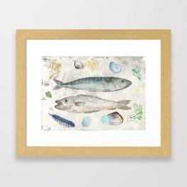 Cornish Catch Framed Art Print