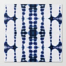 Boho Tie-Dye Knit Vertical Canvas Print