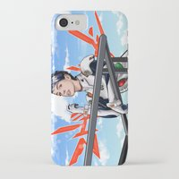 neon genesis evangelion iPhone & iPod Cases featuring Evangelion Rei Hathaway by Akyanyme