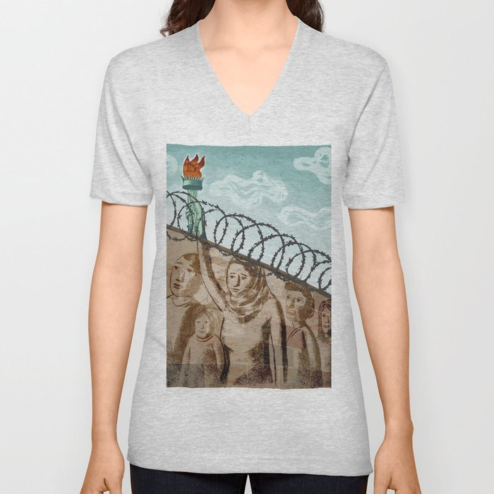 Immigration Unisex V-Neck
