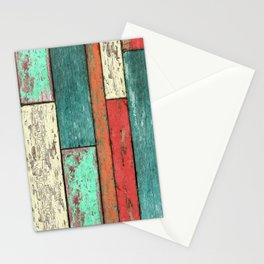 Cubic Wood 2 Stationery Cards